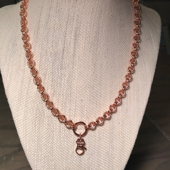 Origami Owl Jewelry Double Round Link Rose Gold Necklace Poshmark
